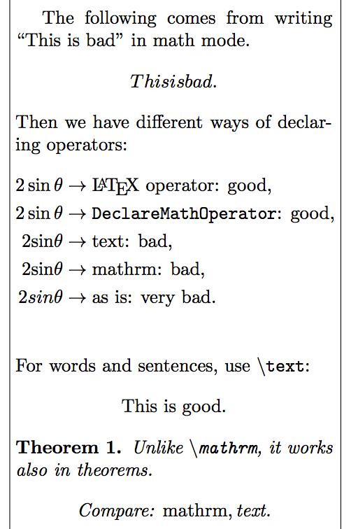 Suboptimal Latex 4 Mathematics The Poor Mans Math Blog