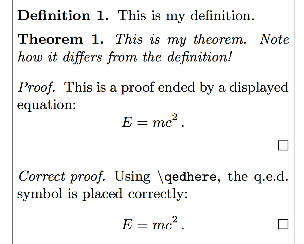 Suboptimal latex 5 miscellanea the poor mans math blog theorems with amsthm buycottarizona Gallery
